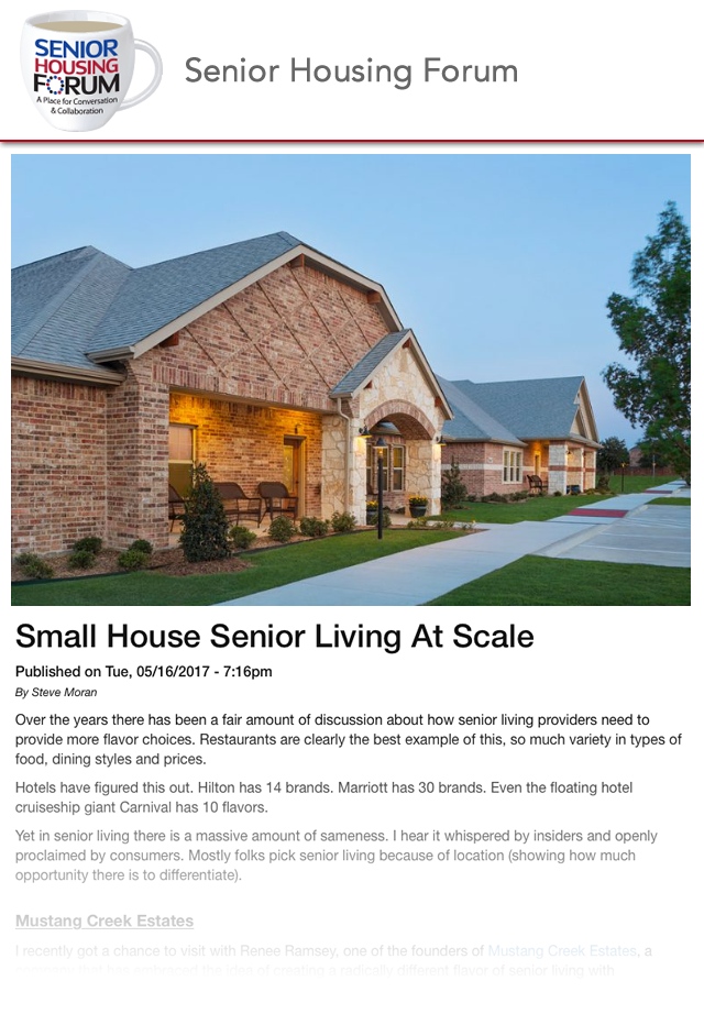 Small House Senior Living At Scale